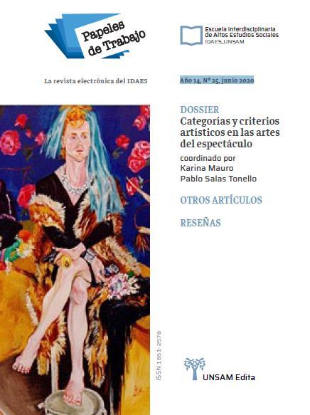 Ver Vol. 14 Núm. 25 (2020): Categorías y criterios artísticos en las artes del espectáculo