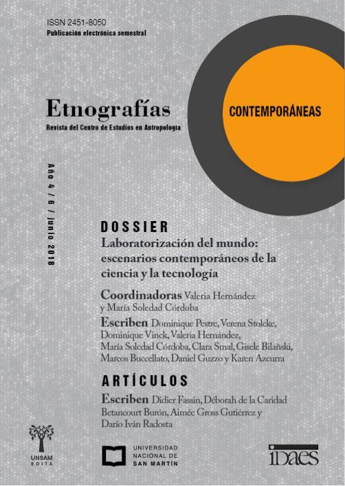 Ver Vol. 4 Núm. 6 (2018): Etnografías Contemporáneas