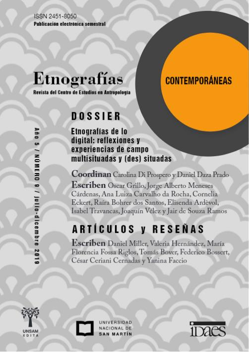 Ver Vol. 5 Núm. 9 (2019): Etnografías Contemporáneas