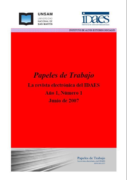 Ver Vol. 1 Núm. 1 (2007)