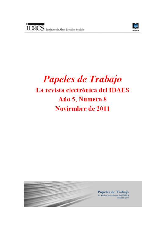 Ver Vol. 5 Núm. 8 (2011)